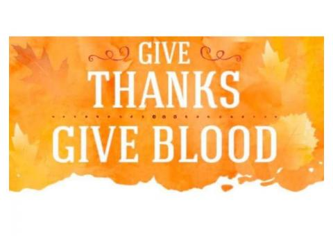 Give Thanks, Give Blood
