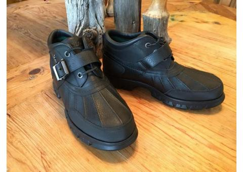 """Ralph Lauren Polo Dover III Men's Rugged """"Duck"""" Boots Leather- size 9 1/2D – Brand New, Never Worn,"""